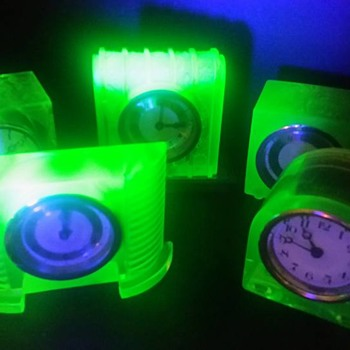 Uranium Glass Clocks