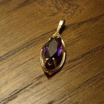 10KT Amethyst Pendant - Fine Jewelry