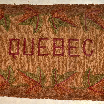Hooked Rug from ???  QUEBEC! - Rugs and Textiles