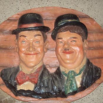 Large 3D Laurel & Hardy wallhanging - Advertising
