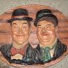 Large 3D Laurel & Hardy wallhanging