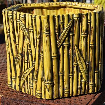 Majolica Bamboo Planter - Pottery