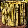 Majolica Bamboo Planter