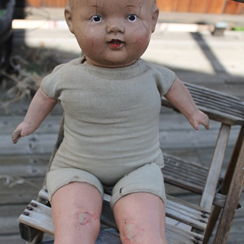 Baby Doll soft body with plaster? head/arms/legs. - Dolls