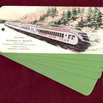 Christmas Train Blotting Paper Advert