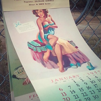 Girly calender 1957. - Paper