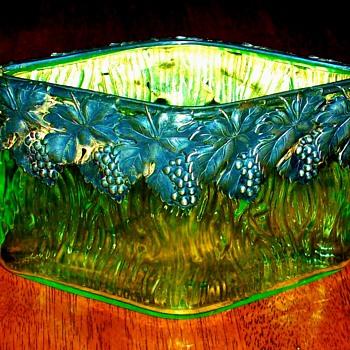 Loetz (?) Vase with Silver Mount. - Art Glass