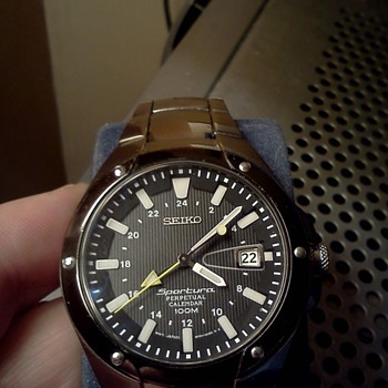 My favourite Seiko, the Sportura Perpetual Calendar in titanium. - Wristwatches