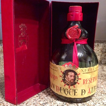 Brandy bottle from Spain. I got it in 1981. Beautiful bottle and box - Bottles