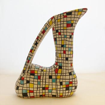 Mayolica Gazelle vase. Ars Deruta (Italy, 1950s) - Pottery
