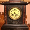 Antique Black (slate?) Mantel Clock