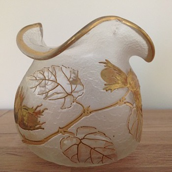 wonderful vase by Legras factory, c1900 - Art Nouveau