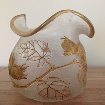 wonderful vase by Legras factory, c1900