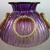 Loetz Vase - Empire, pensée verlaufend Texas mit Silber, PN unknown, ca. 1906