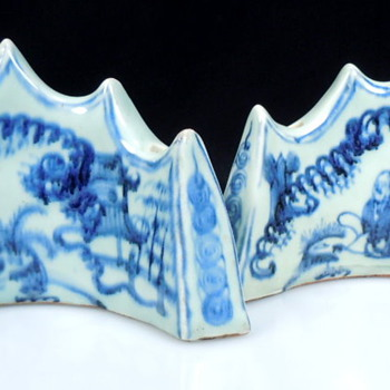Pair of Crown Shaped Porcelain  - Asian