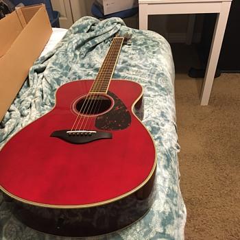 Yamaha cherry red guitar  - Guitars
