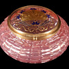 Loetz Pink Chine Art Nouveau Lidded Box.