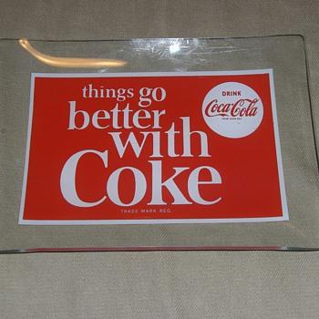 Coca Cola  Rectangular  Glass Plate - Coca-Cola