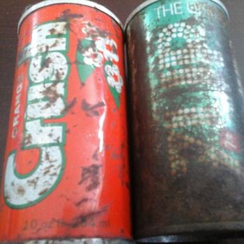 Tin Soda Cans - Bottles