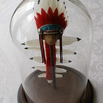 Original prototype war bonnet (Lone Ranger and Tonto action figures) - Toys