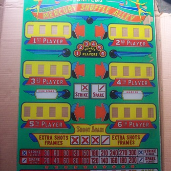 PinBall Machine Glass 1953-1954 - Coin Operated