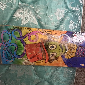 Autographed (by Vans Team) Daniel Lutheran Competition Board