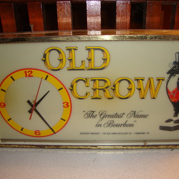 Vintage OLD CROW Clock........... - Clocks