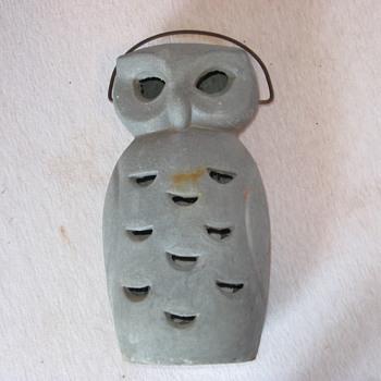 vintage cast iron owl lantern maker or year?