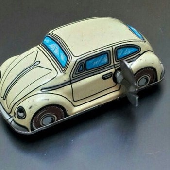 Vintage Tin Wind Up Tin Toy Cars - Toys