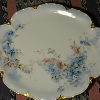 Beautiful Victorian Dresser Plate - H & Co., France - Haviland - China and Dinnerware