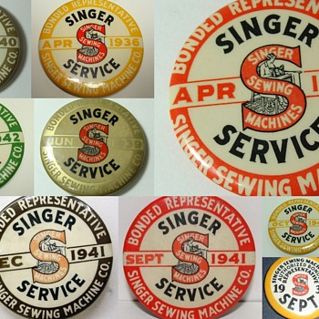 Singer  Badges &  Pinbacks - Sewing