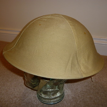 British WWII helmet cammo cover - Military and Wartime