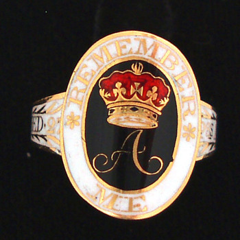 Rare Princess Amelia Mourning Ring - Fine Jewelry