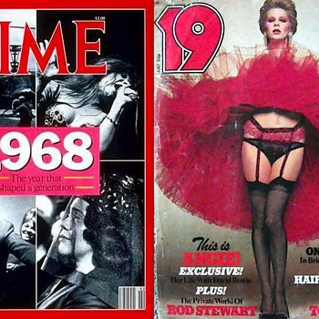 Magazine Covers-Janis Joplin-Angie Bowie. - Paper