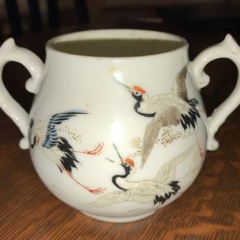 Hand painted Asian Sugar Bowl or teacup - China and Dinnerware