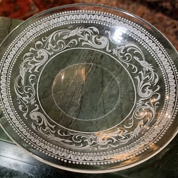 Mystery Glass Dish - Engraved or ? - Art Glass