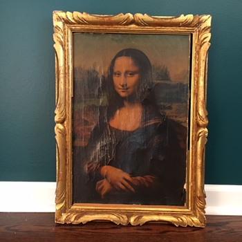 Mona Lisa reproduction with Leonardo Da Vinci info sheet on back - Posters and Prints