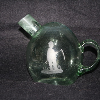 Unknown Handmade Glass Bottle/Jar - Art Glass