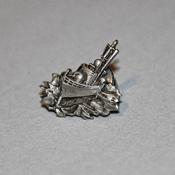 Boeing PHM lapel/tie pin pewter. Rare - Military and Wartime