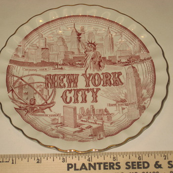 Collector plate New York City - Advertising
