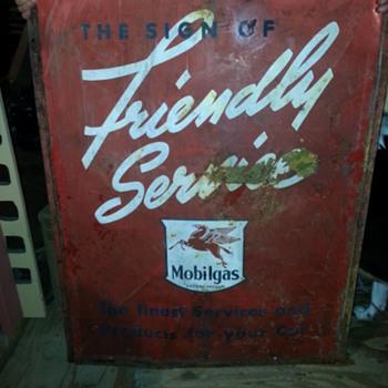 sign i found in a garage in northern maine.    - Petroliana