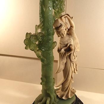 "Jade Japanese statue…. 12"" high"