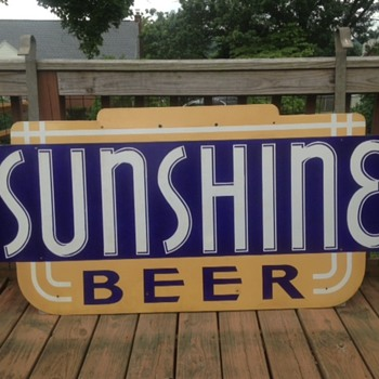Sunshine Beer Porcelain Sign - Breweriana