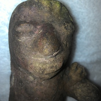 Odd figurine set found on fishers island...this 1 is part of the same line of 3 with hands on each others shoulders