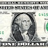"""2013 One Dollar Federal Reserve Note with """"Bleed through"""" of Bank and Treasury Seals"""