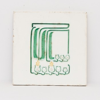 Jugendstil Tile (Germany), ca. 1905 - Art Nouveau