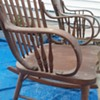 Rocking chair stored in barn for 40-50 years