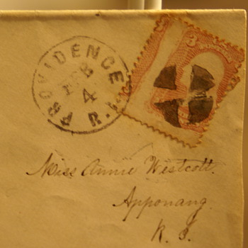 Providence R.I. 3-Cent George Washington Cancelled Stamp beleive to be from 186?