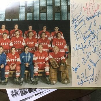 1972 team Russia autographs. - Hockey