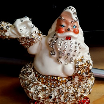 White Santa Betty Lou Nichols La Habra... White Santa RARE? - Christmas